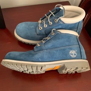 Custom Carolina Blue Timberland Boots
